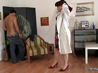 Cock hungry mature takes hard