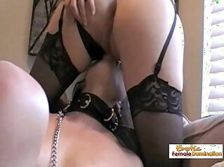 Angela nails her first slave role in an amateur femdom video