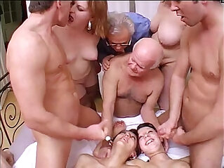 Crazy with grandpa in a dirty and perverse family!