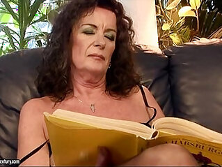 Hairy Granny Playing with a Busty Teen