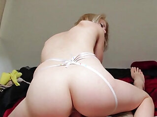 18 year old Blonde College Teen Loves Sex and Has Big Orgasm