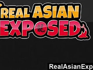 RealAsianExposed Asian Cutie Keeani Lei Gags On Massive Black monster Cock