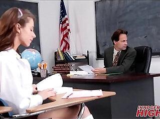 Skinny High School Girl Fucked By Teacher In Detention