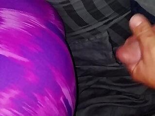 cum on sleeping exwifes yoga pants ass