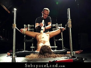 Slave With Dental Gag Extreme Orgasm And Pain