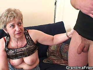 Old threesome orgy after masturbating