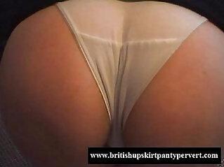 Mature amateur shows her tight panties