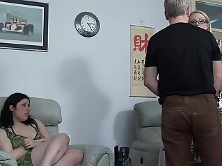 niece lies and gets her uncle a bare ass spanking in front of her