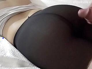 Cumshot on Nice Pantyhose Ass