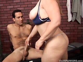 Beautiful busty mature cock sucker