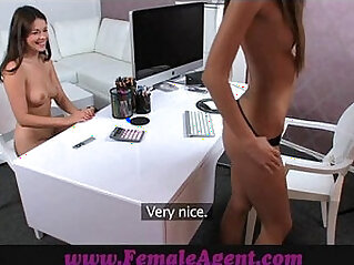FemaleAgent English rose on Czech couch