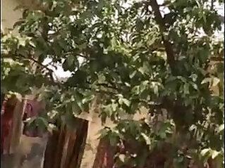 Desi Bhabhi Outdoor Shower Secretly Filmed By Neighbour
