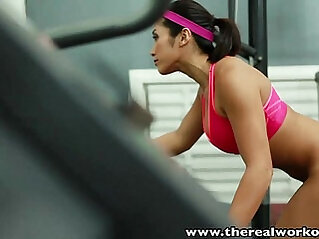 TheRealWorkout Busty babe tight pussy fucked