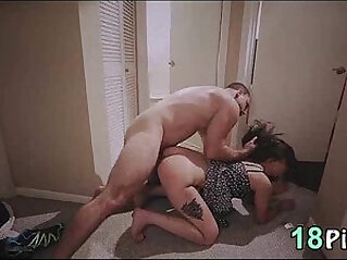 Gorgeous busty blonde Teen Gia Paige Fucked Super Gets anal Creampie