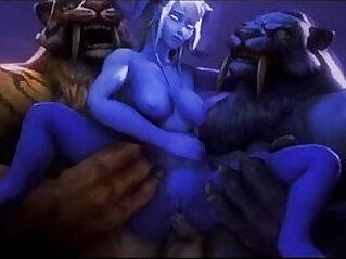 Animated sexy facefucking deep dp rough