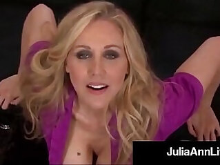 Smoking hot mommy julia ann gives a pov blowjob and footjob