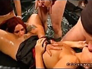 Redhead babe gives pussy with shower