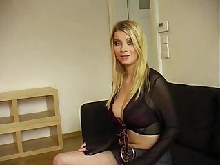 Beautiful desperate Russian Model on job interview