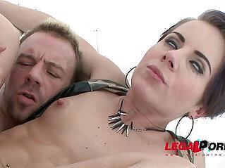 Sexy blonde slut Sasha Zima double anal training first DAP