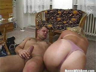 Blonde Mature Bombshell Suck And Fucks Cock