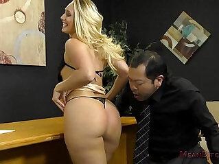 Loan Officer Makes Him Lick Ass To Get a Loan AJ Applegate at legs niche
