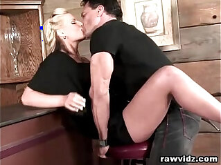 Busty Blonde Hooks Up With The Hunk Bartender