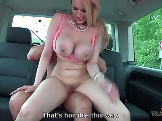 Takevan dumbest fat dirty blonde slut ever caught by stranger in van