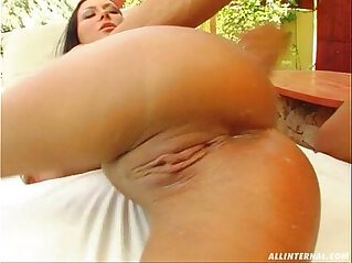 All Internal Valentina goes anal and gets filled with a load of cum
