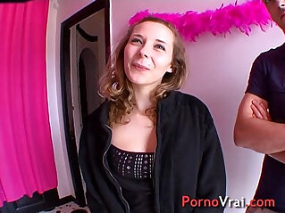 Ophelie is an exhibitionist and sex of rabid! French amateur at orgasm niche