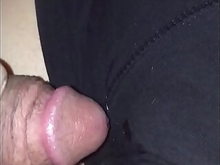 sleeping wife gets a cumshot on her shorts
