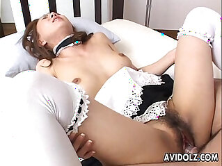 Asian maid getting fucked real hard by the dude