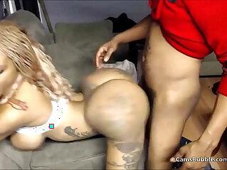 Ghetto big black ass bitch hit Doggystyle