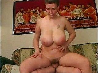 Mature amateur woman toying pussy with big boobs having sex with her husband