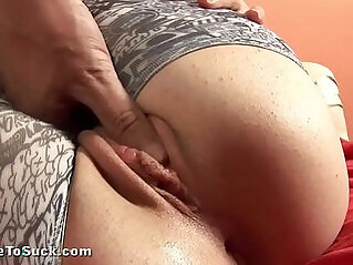 Czech girl gives great blowjob and swallows cum