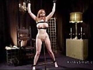 Huge tits redhead slave got anal toyed