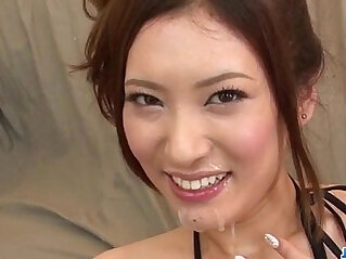 Yui Kasuga fucked hard with sex toys and jizzed on face