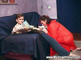 Stepmom Teaches Stepson About Actual Porn