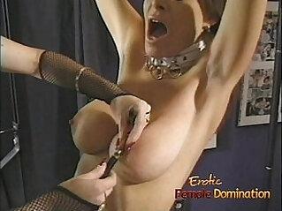Beautiful brunette enjoys some kinky with a redhead