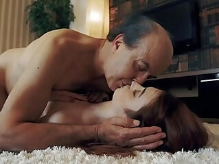 Innocent sweet blonde Teen Swallows and Spits cum after Romantic Sex with Grandpa