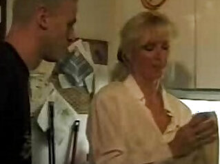XXX Homemade German video Hot mom takes son and his friendXXX